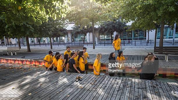 New medical students on freshman trip, Lisbon, Portugal
