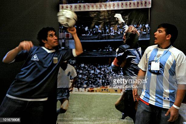 A new member of the Maradonian Church The hand of God a religion dedicated to Argentina's greatest ever soccer player Diego Maradona mimics the...