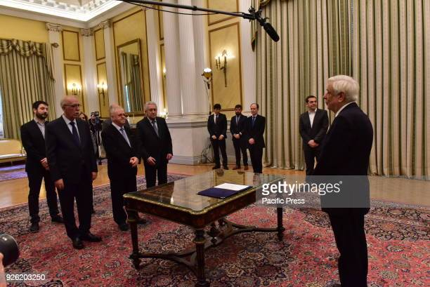 MANSION ATHENS ATTIKI GREECE New members of the Greek Government gave political oath in the presence of the President of Hellenic Republic Prokopis...