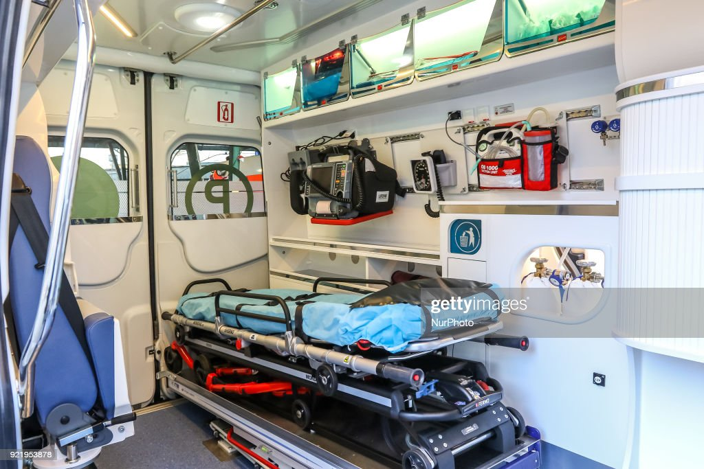 New Mercedes ambulance for Gdynia Emergency Medical Services : News Photo