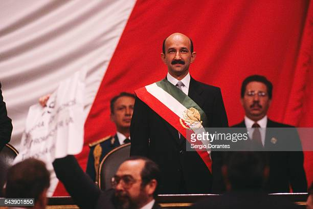 New Mexican President Carlos Salinas is Sworn In