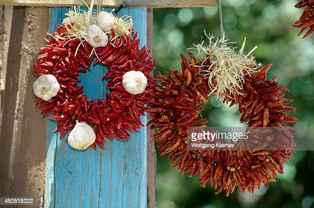 USA New Mexico Chimayo Chile Peppers Garlic Wreath