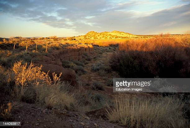 New Mexico Galisteo Desert Landscape At Sunset