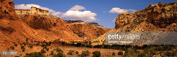 """USA, New Mexico, Ghost Ranch near Abiquiu, red rock formations"""