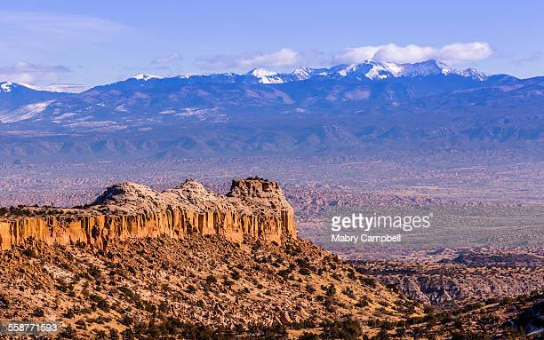a new mexico morning landscape near los alamos - new mexico stock pictures, royalty-free photos & images