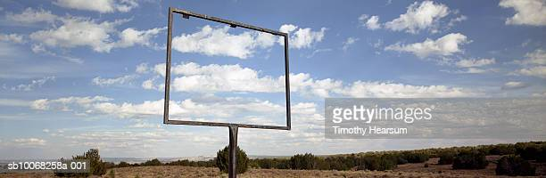 usa, new mexico, open sign frame in desert - timothy hearsum stock pictures, royalty-free photos & images