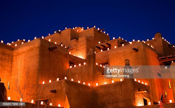 usa, new mexico, santa fe, night - new mexico stock pictures, royalty-free photos & images