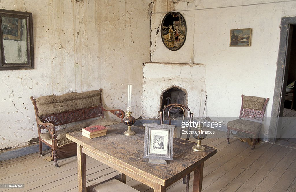 New Mexico, Shakespeare, Ghost Mining Town, Interior Of Abandoned House.