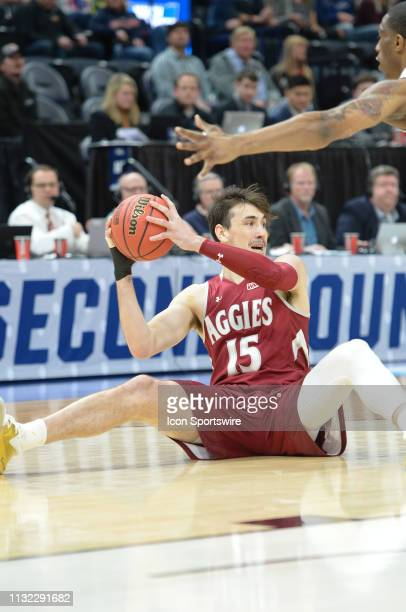 New Mexico State Aggies forward Ivan Aurrecoechea during a game between the Auburn Tigers and the New Mexico State Aggies on March 21 2019 at Vivint...