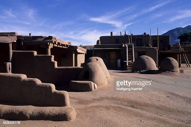 USA New Mexico Taos Pueblo Adobe