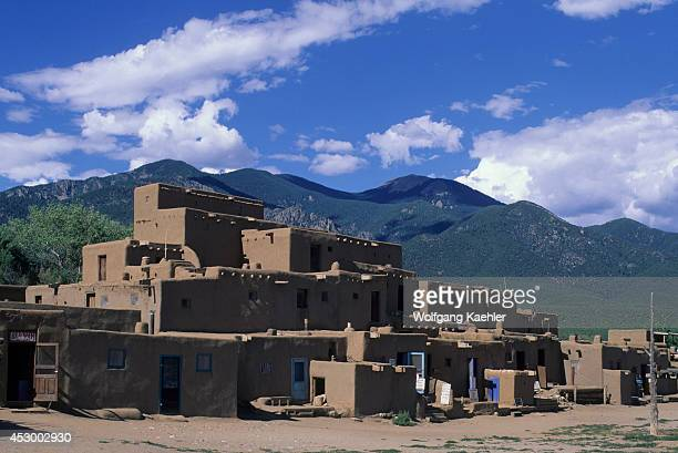USA New Mexico Taos Pueblo Oldest Continuously Settled Community In US