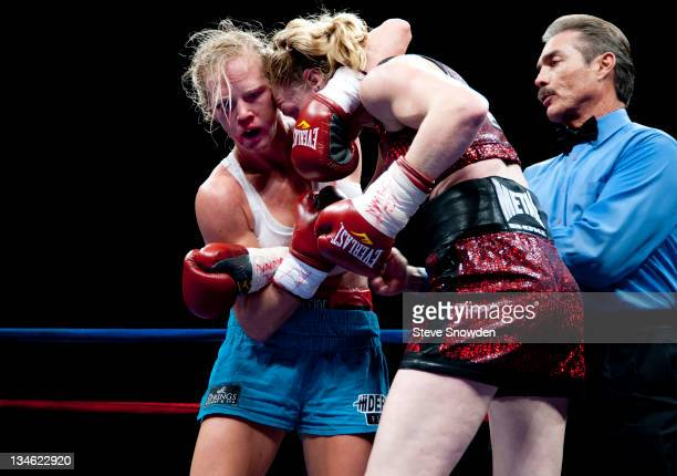 New Mexico's Holly Holm battles French boxer Anne Sophie Mathis of DombaslesurMeurthe for the IBA Welterweight title at Route 66 Casino's Legends...