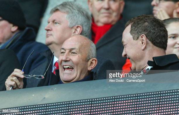 New Middlesbrough manager Tony Pulis takes his seat during the Sky Bet Championship match between Middlesbrough and Bolton Wanderers at Riverside...
