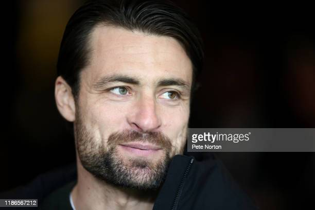 New Milton Keynes Dons manager Russell Martin looks on prior to the FA Cup First Round match between Milton Keynes Dons and Port Vale at Stadium mk...