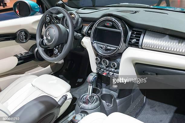 New Mini Cabrio compact convertible car dashboard