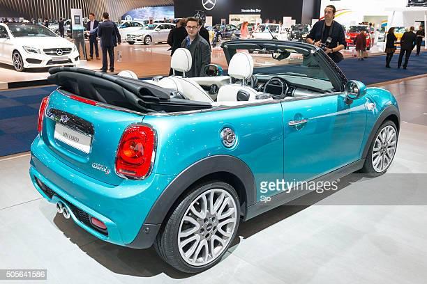 New Mini Cabrio compact convertible car