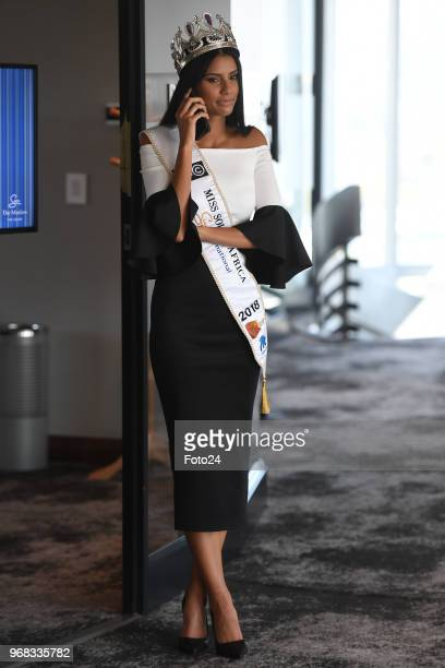 New Miss South Africa 2018 Tamaryn Green during an interview on May 28 2018 in Pretoria South Africa Green a 23yearold UCT medical student who was...