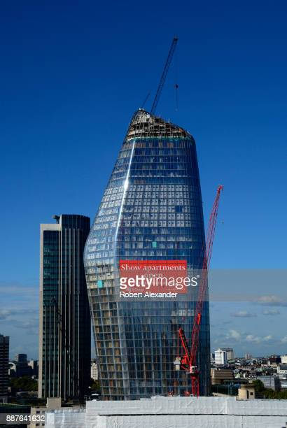 A new mixeduse skyscraper One Blackfriars takes shape along the River Thames in the Bankside district of London England Informally known as 'The...