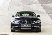 New model of powerful BMW 335i prestigious modern car