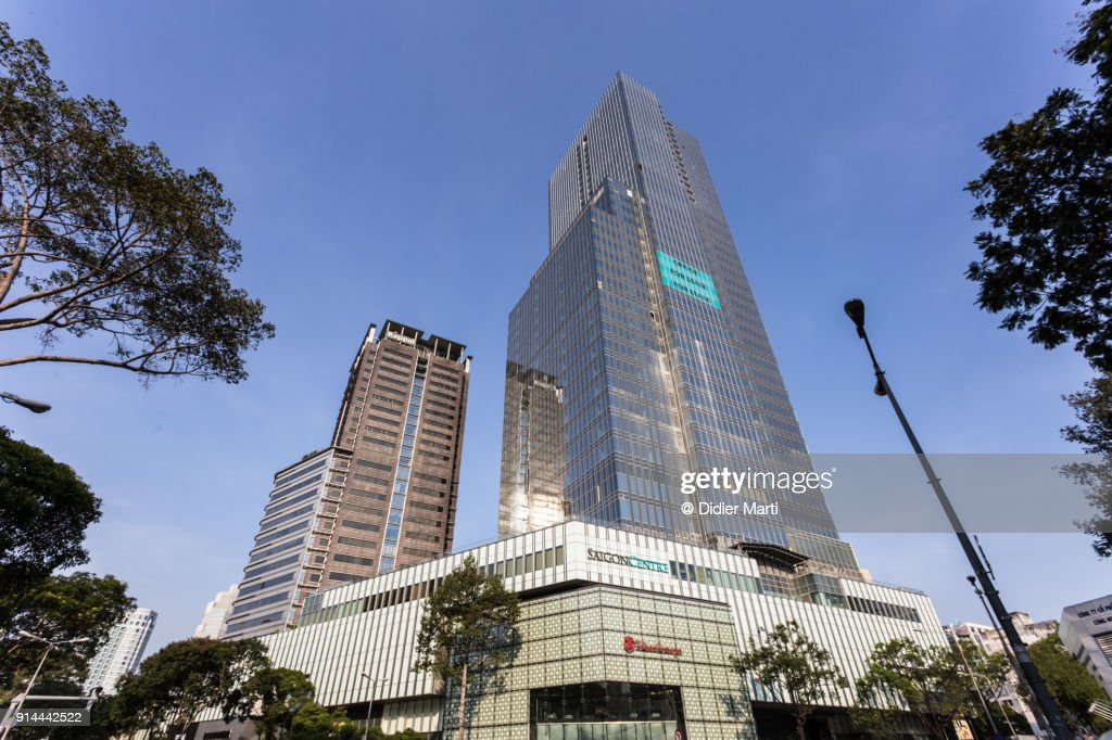 New modern building in the heart of Ho Chi Minh City in south Vietnam. : Stock Photo