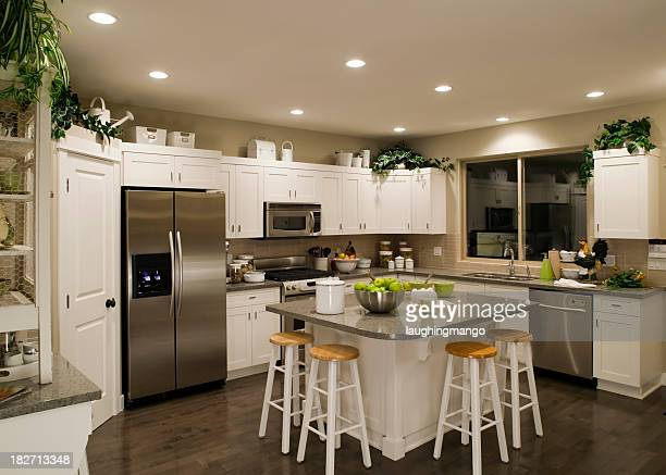 new modern kitchen home interior - middle class stock pictures, royalty-free photos & images