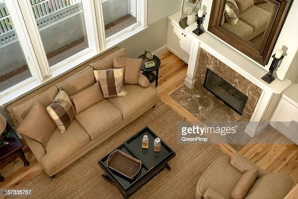 Neue Wohnzimmer Real Estate Luftaufnahme