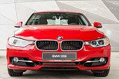New modern model of family sedan BMW 328i