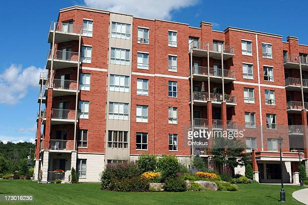 new modern retirement apartment - flat stock pictures, royalty-free photos & images