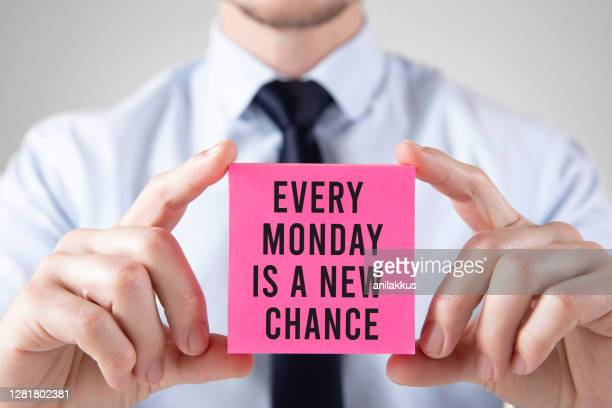 new monday new chance - monday stock pictures, royalty-free photos & images