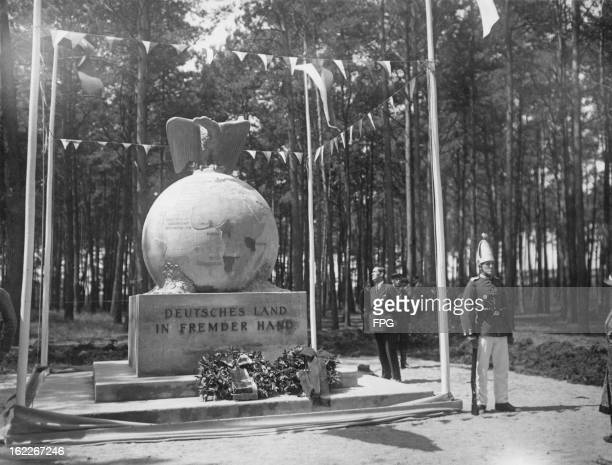 A new monument at DallgowDöberitz in Germany with the inscription 'Deutsches Land In Fremder Hand' 'German Land in Foreign Hands' circa 1931 Created...