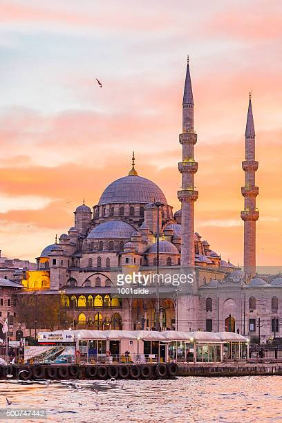 nuovo moschea di istanbul (turchia - istanbul foto e immagini stock