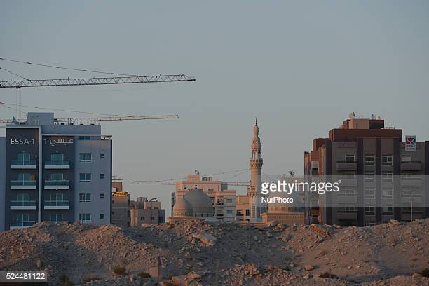 A new mosque is being build between new houses Dubai UAE Friday February 5 2016