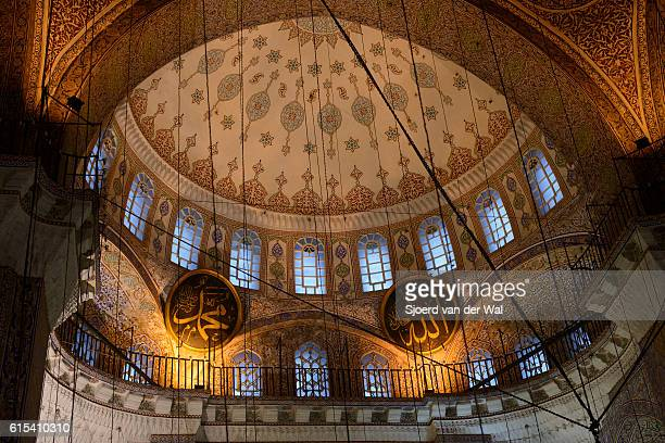 """new mosque or yeni cami interior in istanbul turkey - """"sjoerd van der wal"""" stock pictures, royalty-free photos & images"""