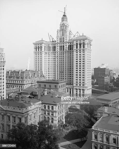 New Municipal Building New York City USA circa 1914