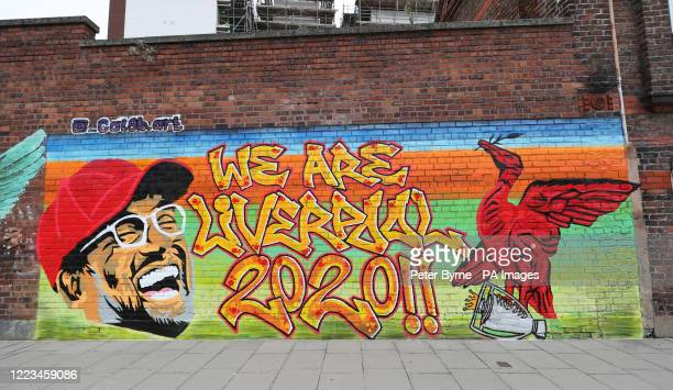 New mural of Liverpool manager Jurgen Klopp on a wall in the Baltic Triangle area of Liverpool after the club became champions of England for the...