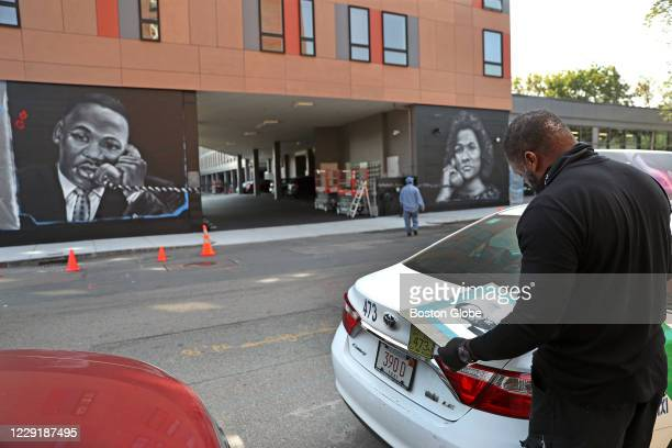 New mural of Martin Luther King Jr. And Coretta Scott King at Shawmut Avenue and Melnea Cass Boulevard in Roxbury is pictured in Boston on Sept. 25,...