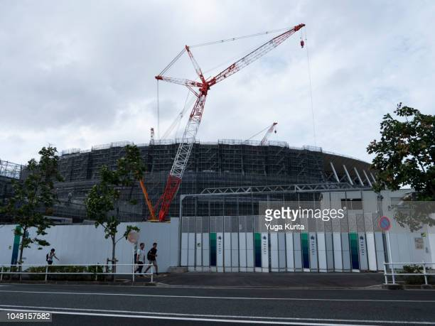 New National Stadium Under Construction in Tokyo