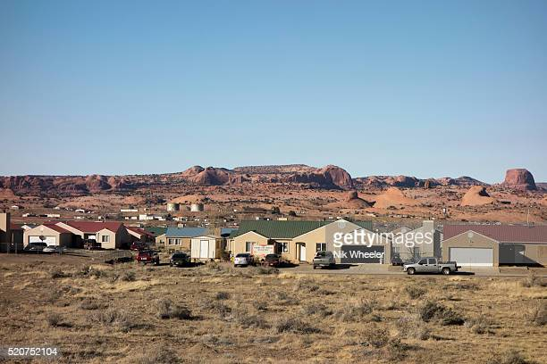 New Native American housing development on outskirts of Kayenta, Arizona, USA