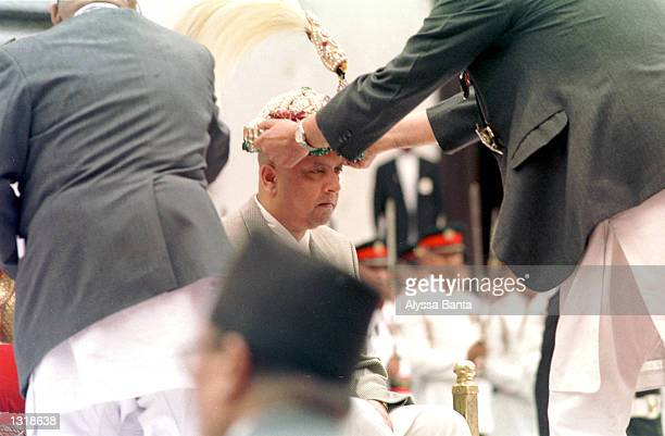 New Nepalese King Gyanendra is crowned June 4 2001 at the Hanuman Palace in Katmandu Nepal proclaimed its second new king in two days naming regent...