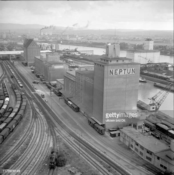 New Neptun SA silo tower Rhine harbour Kleinhüningen 1953