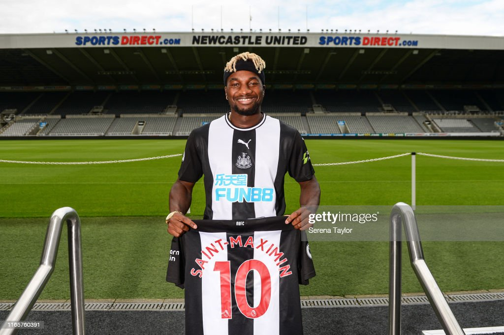 Newcastle United Unveil New Signing Allan Saint-Maximin : News Photo