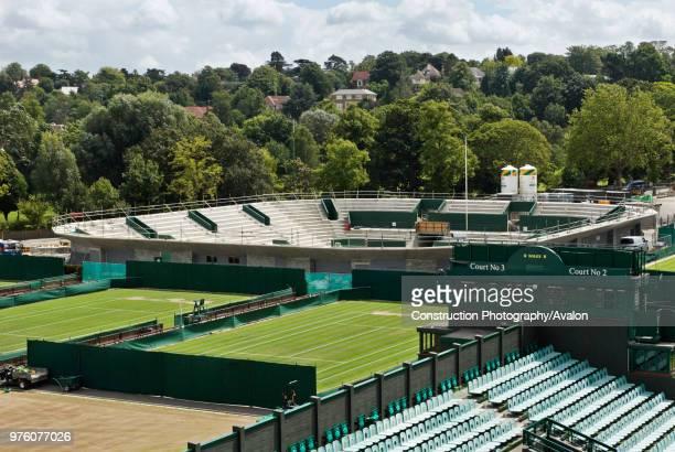 New No 2 Court under construction All England Lawn Tennis Club Wimbledon London UK 2008