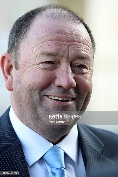 New Northampton Town manager Gary Johnson during a press conference to announce his appointment as manager of Northampton Town FC on March 4 2011 at...