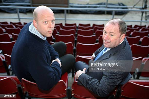 New Northampton Town manager Gary Johnson with Chairman David Cardoza during a press conference to announce his appointment as manager of Northampton...