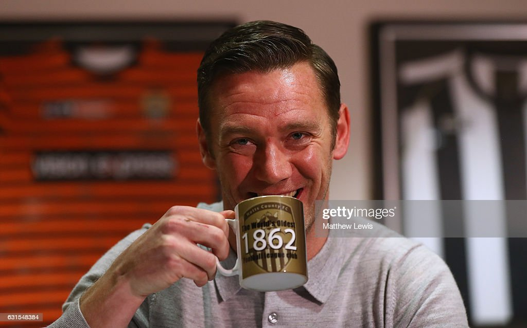 New Notts County manager, Kevin Nolan pictured during a photocall at Meadow Lane on January 12, 2017 in Nottingham, England.