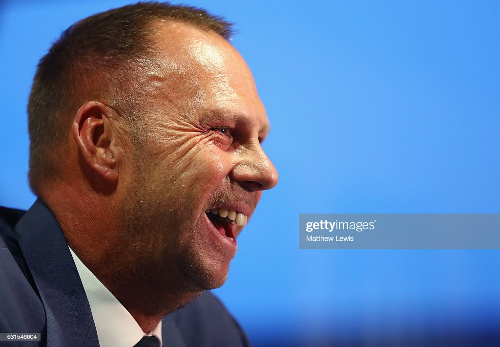 New Notts County owner and chairman, Alan Hardy pictured during a photocall at Meadow Lane on January 12, 2017 in Nottingham, England.