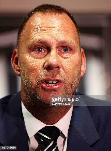 New Notts County owner and chairman Alan Hardy pictured during a photocall at Meadow Lane on January 12 2017 in Nottingham England