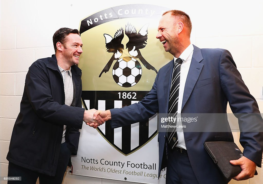 New Notts County owner and chairman, Alan Hardy pictured with the The New Notts County manager Kevin Nolan during a photocall at Meadow Lane on January 12, 2017 in Nottingham, England.