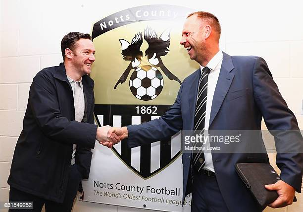 New Notts County owner and chairman Alan Hardy pictured with the The New Notts County manager Kevin Nolan during a photocall at Meadow Lane on...