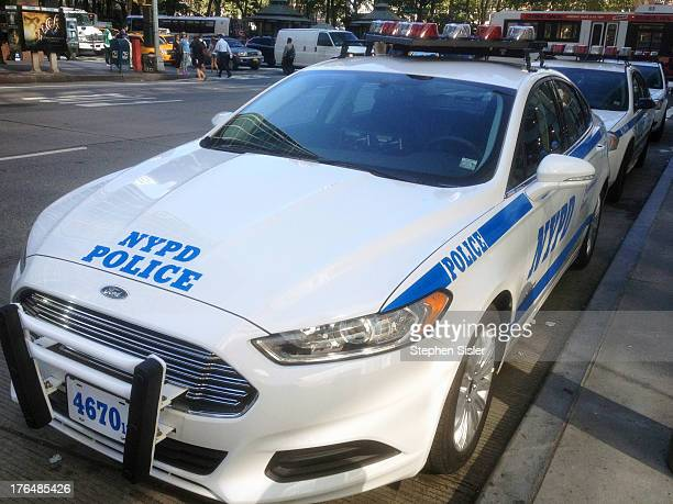 New NYPD 2013 Ford Fusion Car-13 32nd Precint Located At 250 West 135th Street In Manhattan Photo Taken Monday August 5, 2013 New NYPD Patrol Car...